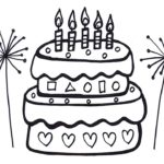 How to Draw Birthday Cake for Kids | Learn Colors | Coloring Pages for Baby